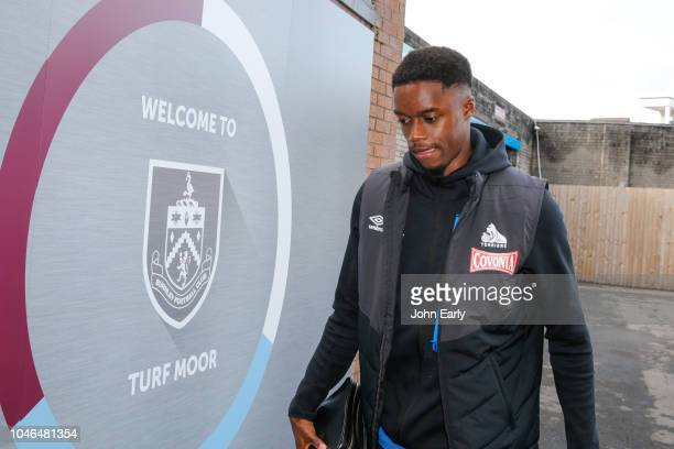 Adama Diakhaby of Huddersfield Town arrives before the Premier League match between Burnley FC and Huddersfield Town at Turf Moor on October 6 2018...