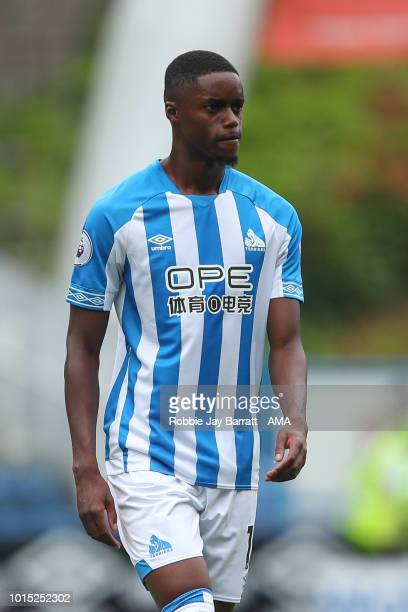 Adama Diakhaby of Huddersfield Town during the Premier League match between Huddersfield Town and Chelsea FC at John Smith's Stadium on August 11...