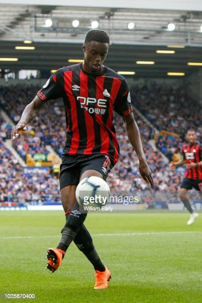 Adama Diakhaby of Huddersfield Town during the Premier League match between Everton FC and Huddersfield Town at Goodison Park on September 1 2018 in...