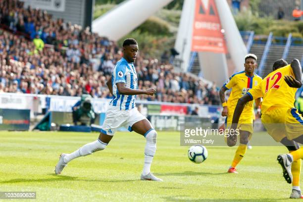 Adama Diakhaby of Huddersfield Town during the Premier League match between Huddersfield Town and Crystal Palace at John Smith's Stadium on September...