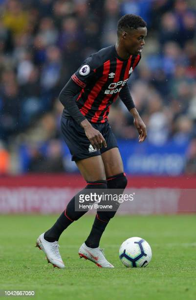Adama Diakhaby of Huddersfield Town during the Premier League match between Leicester City and Huddersfield Town at The King Power Stadium on...