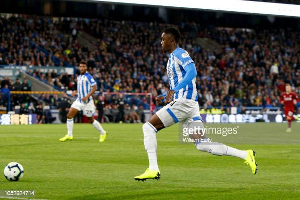 Adama Diakhaby of Huddersfield Town during the Premier League match between Huddersfield Town and Liverpool FC at John Smith's Stadium on October 20...