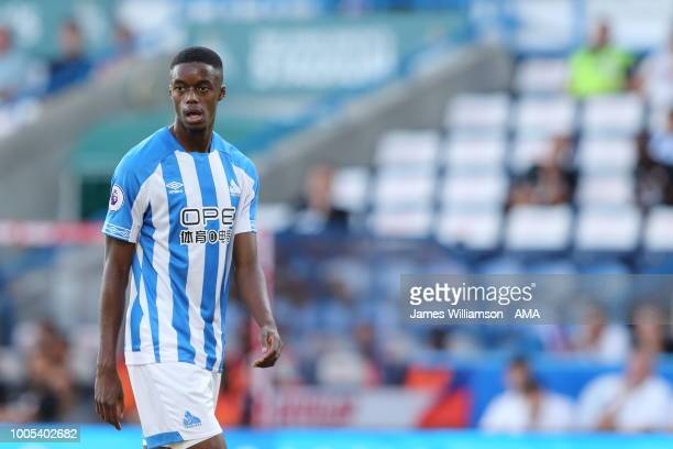 Adama Diakhaby of Huddersfield Town during the preseason friendly between Huddersfield Town and Olympique Lyonnais at John Smith's Stadium on July 25...