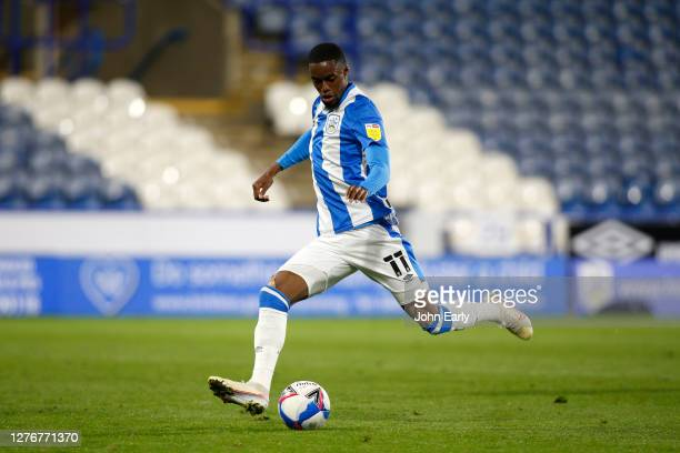 Adama Diakhaby of Huddersfield Town during the Sky Bet Championship match between Huddersfield Town and Nottingham Forest at John Smith's Stadium on...