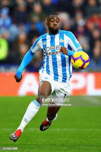 Adama Diakhaby of Huddersfield Town in action during the Premier League match between Huddersfield Town and Southampton FC at John Smith's Stadium on...