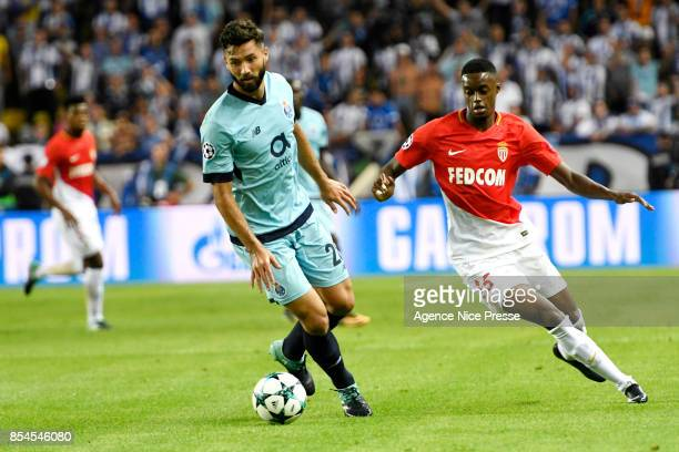 Adama Diakhaby of Monaco and Felipe of Porto during the Uefa Champions League match between As Monaco and Fc Porto on September 26 2017 in Monaco...