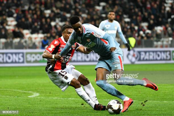 Adama Diakhaby of Monaco during the League Cup match between Nice and Monaco at Allianz Riviera Stadium on January 9 2018 in Nice France