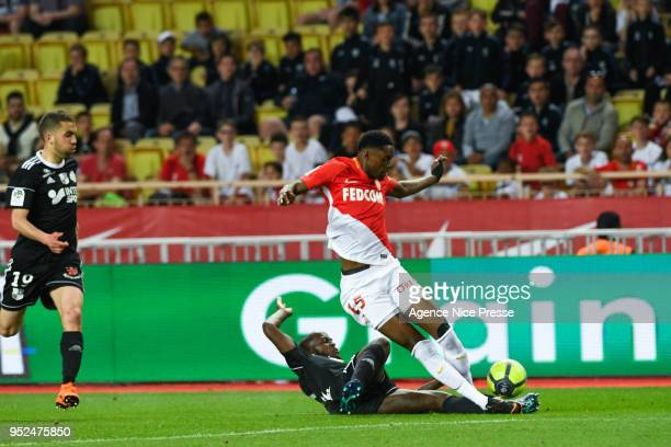 Adama Diakhaby of Monaco during the Ligue 1 match between AS Monaco and Amiens SC at Stade Louis II on April 28 2018 in Monaco