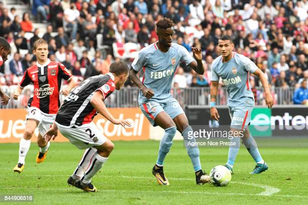 Adama Diakhaby of Monaco during the Ligue 1 match between OGC Nice and AS Monaco at Allianz Riviera on September 9 2017 in Nice