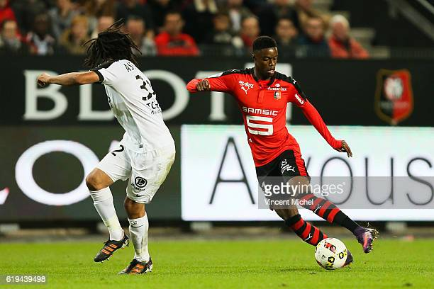Adama Diakhaby of Rennes during the French Ligue 1 match between Rennes and Metz at Stade de la Route de Lorient on October 30 2016 in Rennes France