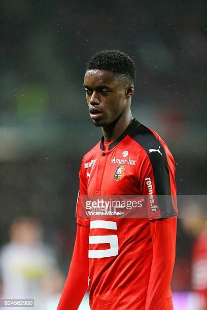 Adama Diakhaby of Rennes during the Ligue 1 match between Stade Rennais and Sco Angers at Stade de la Route de Lorient on November 19 2016 in Rennes...