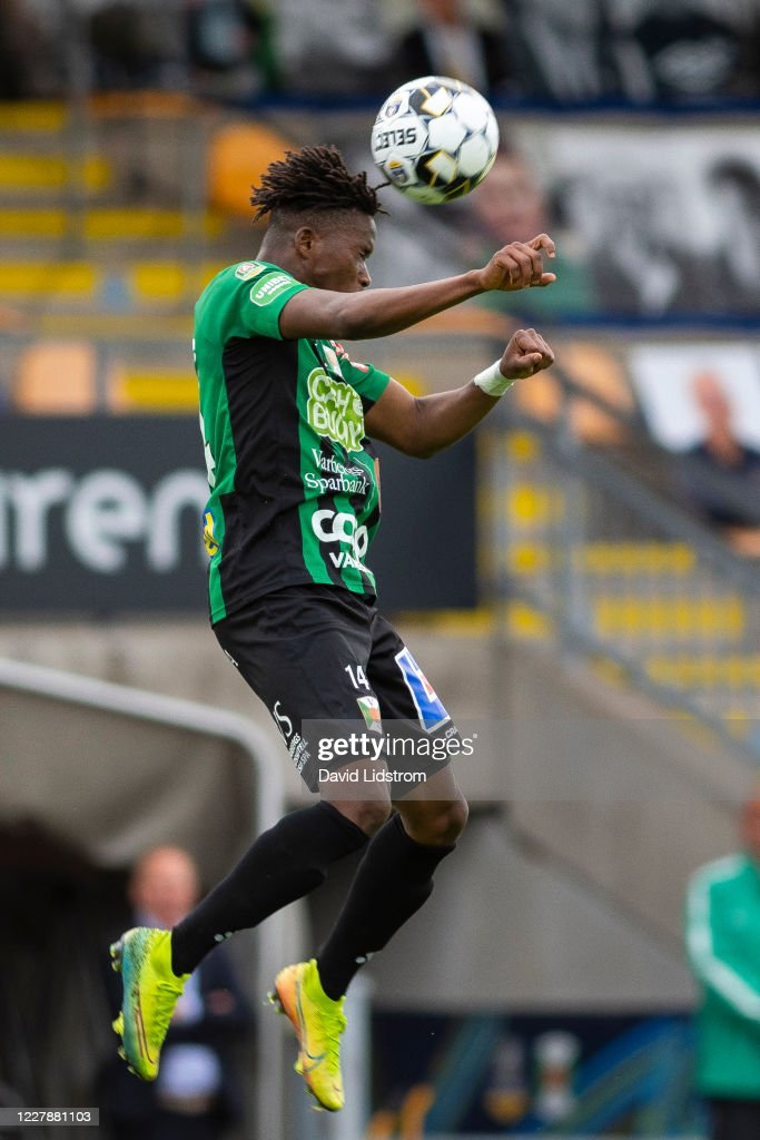 Adama Fofana Of Varbergs Bois Shoots A Header During The Allsvenskan News Photo Getty Images