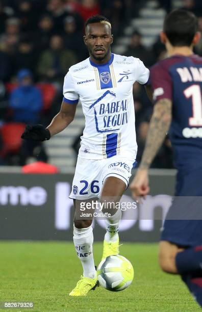 Adama Niane of Troyes during the French Ligue 1 match between Paris Saint Germain and Troyes ESTAC at Parc des Princes on November 29 2017 in Paris