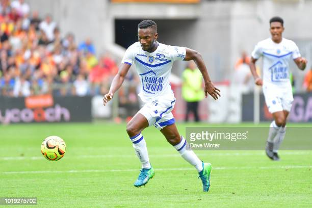 Adama Niane of Troyes during the French Ligue 2 match between RC Lens and Troyes at Stade BollaertDelelis on August 18 2018 in Lens France