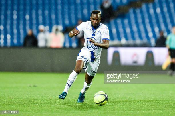Adama Niane of Troyes during the Ligue 1 match between Montpellier Herault SC and Troyes AC at Stade de la Mosson on May 12 2018 in Montpellier