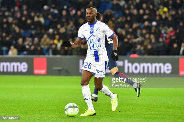 Adama Niane of Troyes during the Ligue 1 match between Paris Saint Germain and Troyes Estac at Parc des Princes on November 29 2017 in Paris