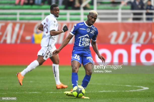 Adama Niane of Troyes during the Ligue 1 match between Troyes and OGC Nice on April 1 2018 in Troyes France