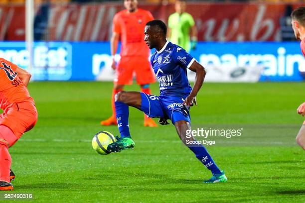 Adama of Troyes during the Ligue 1 match between Troyes AC and SM Caen at Stade de l'Aube on April 28 2018 in Troyes