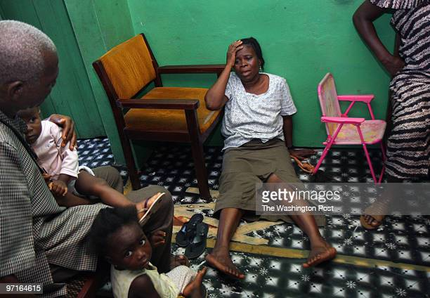 Adama Sannoh's mother Saffie Kallon falls to the floor of her home in profound grief and weariness after leaving the hospital where her daughter had...
