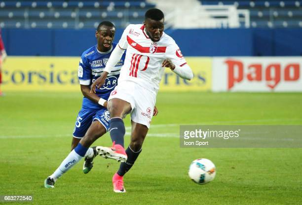 Adama Soumaoro of Lille during the French Ligue 1 match between Bastia and Lille at Stade Armand Cesari on April 1 2017 in Bastia France