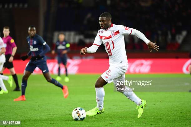 Adama Soumaoro of Lille during the French Ligue 1 match between Paris Saint Germain and Lille at Parc des Princes on February 7 2017 in Paris France