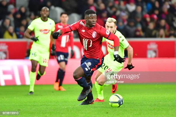 Adama Soumaoro of Lille during the Ligue 1 match between Lille OSC and Angers SCO at Stade Pierre Mauroy on February 24 2018 in Lille France