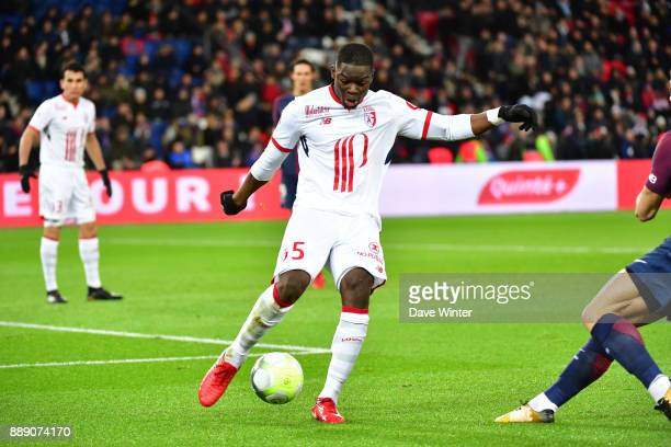 Adama Soumaoro of Lille during the Ligue 1 match between Paris Saint Germain and Lille OSC at Parc des Princes on December 9 2017 in Paris France