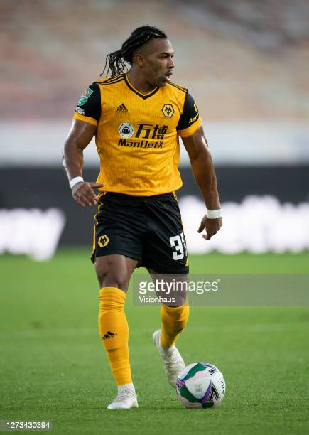 Adama Traoré of Wolverhampton Wanderers during the Carabao Cup second round match between Wolverhampton Wanderers and Stoke City at Molineux on...