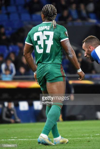 Adama Traore during the match between RCD Espanyol and Wolverhampton Wanderers FC, corresponding to the second leg of the round of 32vof the Eurolpa...