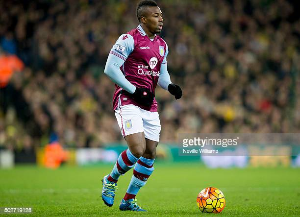 Adama Traore of Aston Villa during the Barclays Premier League match between Norwich City and Aston Villa at Carrow Road on December 28 2015 in...