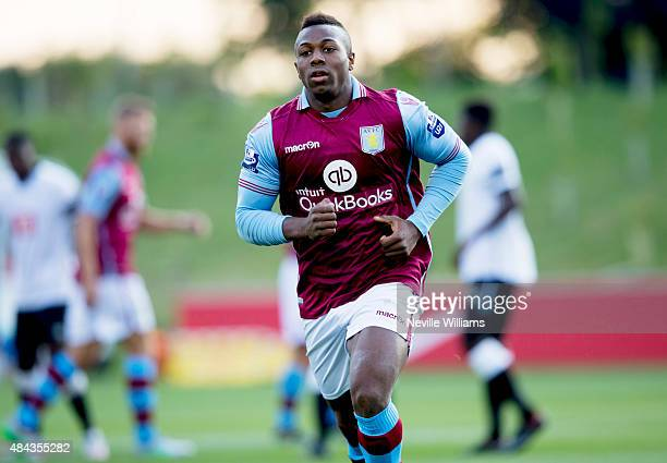 Adama Traore of Aston Villa during the U21 Premier League match between Derby County and Aston Villa at St Georges Park on August 17 2015 in Burton...