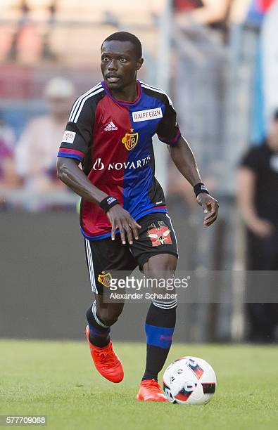 Adama Traore of FC Basel during the friendly match between FC Basel and VfL Wolfsburg at St JakobPark on July 19 2016 in Basel Switzerland