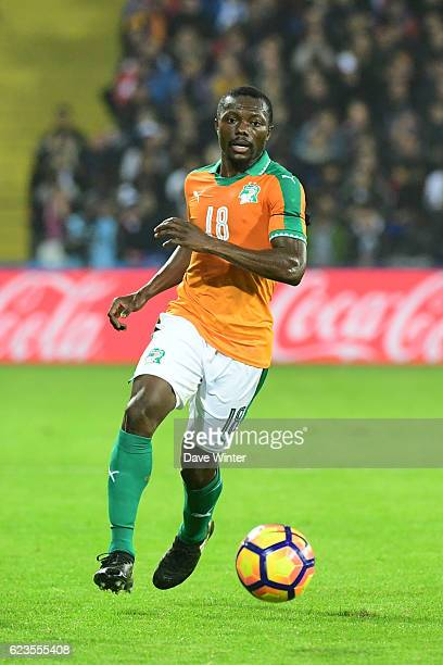 Adama Traore of Ivory Coast during the International friendly match between France and Ivory Coast at Stade BollaertDelelis on November 15 2016 in...