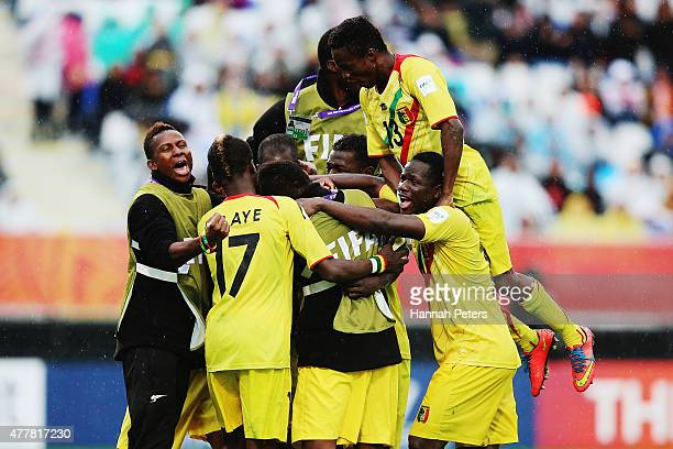 Adama Traore of Mali celebrates after scoring a goal with his team during the FIFA U20 World Cup Third Place Playoff match between Senegal and Mali...