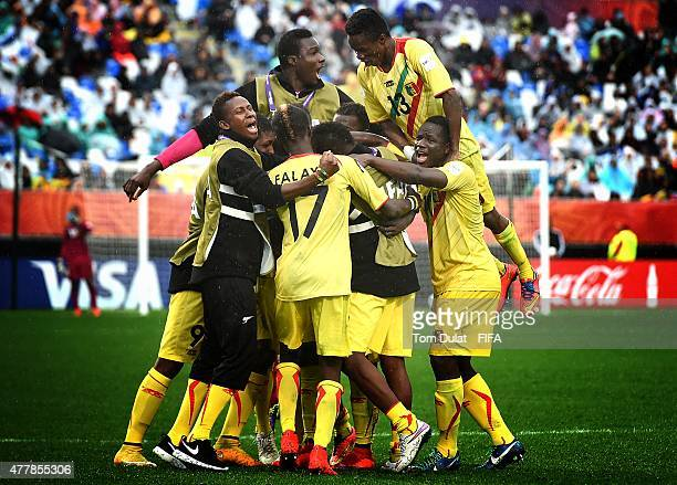 Adama Traore of Mali celebrates with his team after scoring a goal during the FIFA U20 World Cup Third Place Playoff match between Senegal and Mali...