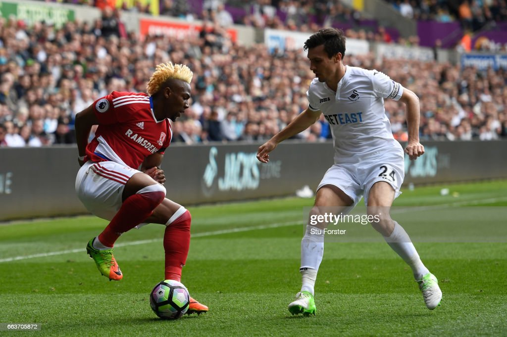 Swansea City v Middlesbrough - Premier League : Nachrichtenfoto