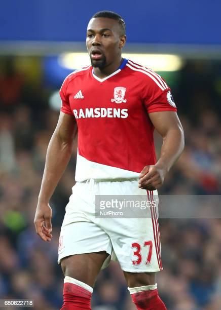 Adama Traore of Middlesbrough during Premier League match between Chelsea and Middlesbrough at Stamford Bridge London England on 08 May 2017