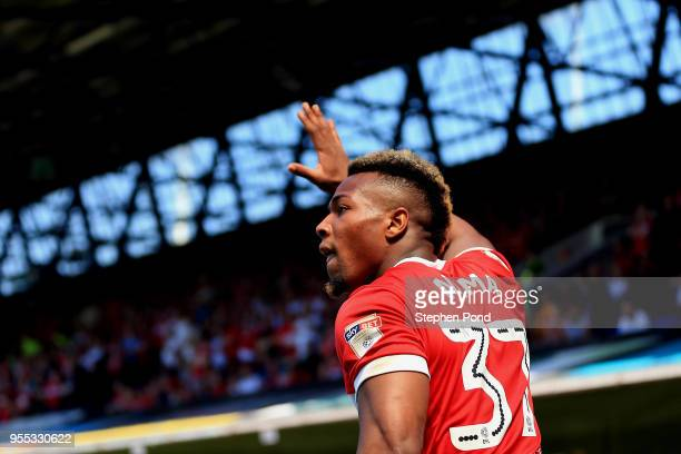 Adama Traore of Middlesbrough during the Sky Bet Championship match between Ipswich Town and Middlesbrough at Portman Road on May 6 2018 in Ipswich...