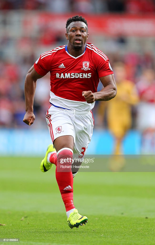Adama Traore of Middlesbrough in action during the Premier League match between Middlesbrough and Tottenham Hotspur at Riverside Stadium on September 24, 2016 in Middlesbrough, England.
