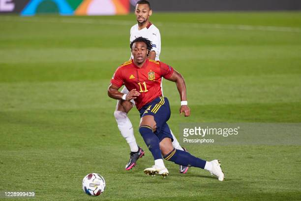 Adama Traore of Spain during the UEFA Nations League match, League A, goup 4 between Spain and Switzerland played at Alfredo Di Stefano Stadium on...