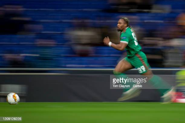 February 27: Adama Traore of Wolverhampton Wanderers chases for the ball during the Espanyol V Wolverhampton Wanderers, UEFA Europa League, round of...