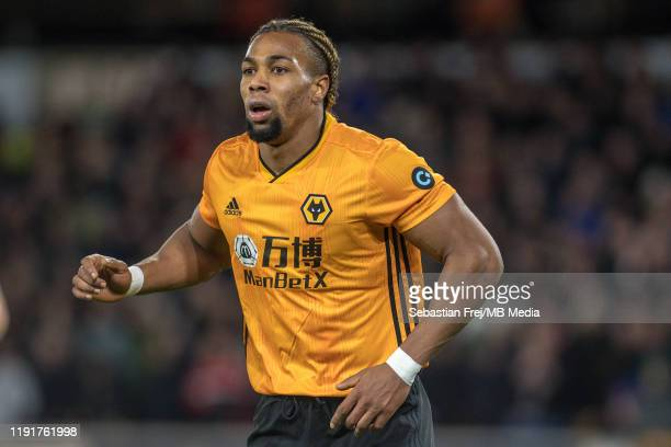 Adama Traore of Wolverhampton Wanderers during the FA Cup Third Round match between Wolverhampton Wanderers and Manchester United at Molineux on...