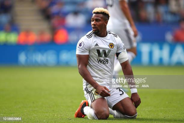 Adama Traore of Wolverhampton Wanderers during the Premier League match between Leicester City and Wolverhampton Wanderers at The King Power Stadium...