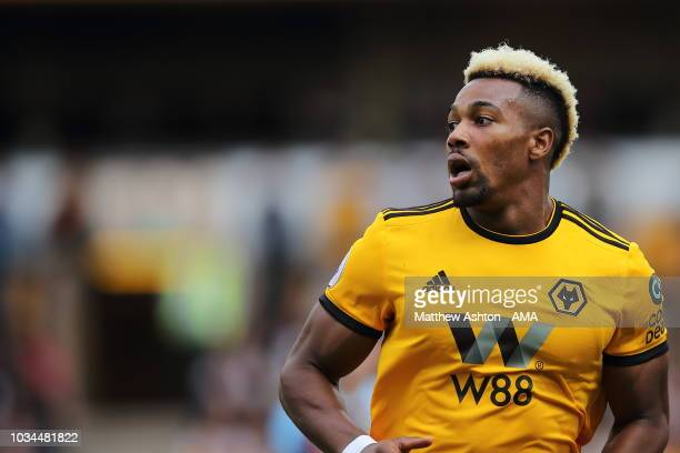 Adama Traore of Wolverhampton Wanderers during the Premier League match between Wolverhampton Wanderers and Burnley FC at Molineux on September 16...