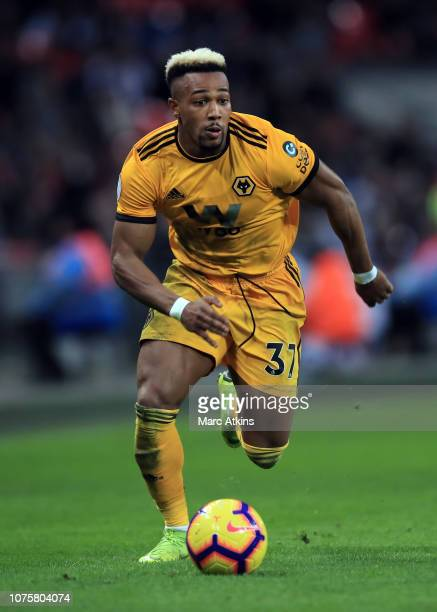 Adama Traore of Wolverhampton Wanderers during the Premier League match between Tottenham Hotspur and Wolverhampton Wanderers at Tottenham Hotspur...