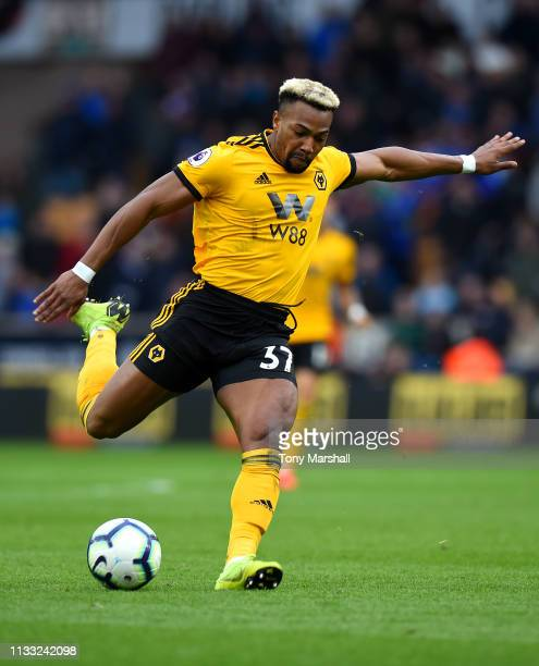 Adama Traore of Wolverhampton Wanderers during the Premier League match between Wolverhampton Wanderers and Cardiff City at Molineux on March 02 2019...