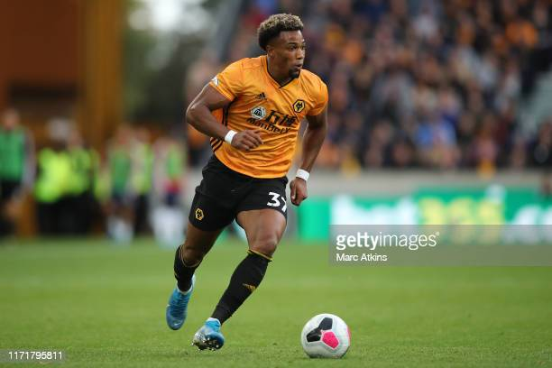 Adama Traore of Wolverhampton Wanderers during the Premier League match between Wolverhampton Wanderers and Watford FC at Molineux on September 28...