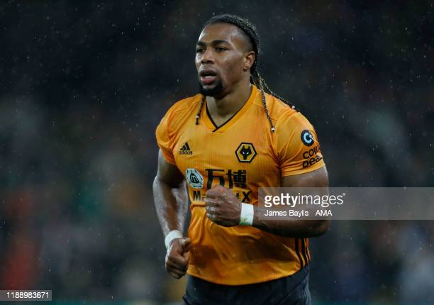 Adama Traore of Wolverhampton Wanderers during the Premier League match between Wolverhampton Wanderers and Tottenham Hotspur at Molineux on December...