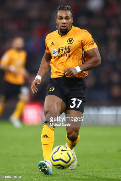 Adama Traore of Wolverhampton Wanderers during the Premier League match between AFC Bournemouth and Wolverhampton Wanderers at Vitality Stadium on...