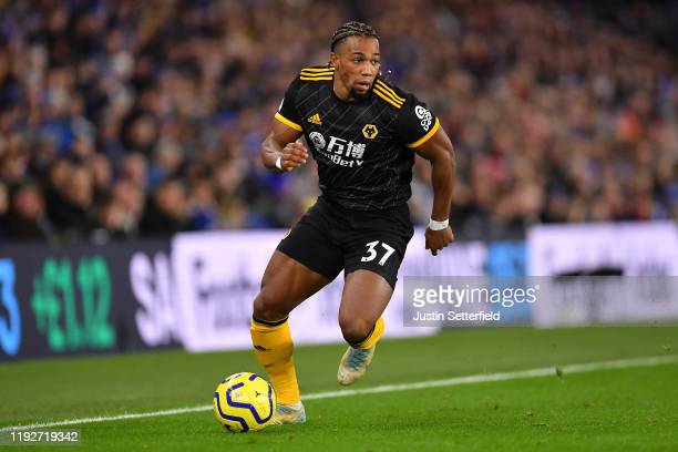 Adama Traore of Wolverhampton Wanderers during the Premier League match between Brighton Hove Albion and Wolverhampton Wanderers at American Express...